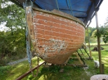 Half the hull stripped