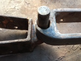 Close up of Rudder pintle anad gudgeon