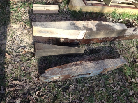Despite my nerves, the chainsaw made short work of the 8x6 baulk of oak