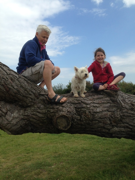 Tree climbing at the aptly named, Lepe Beach
