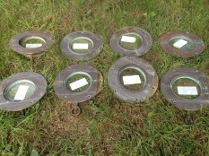All eight portholes removed and labelled.