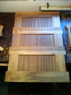 Washboards under construction