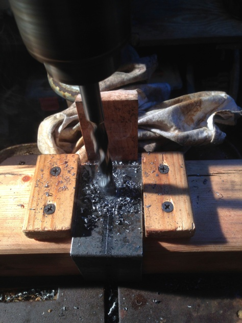 The Drilling Jig in use