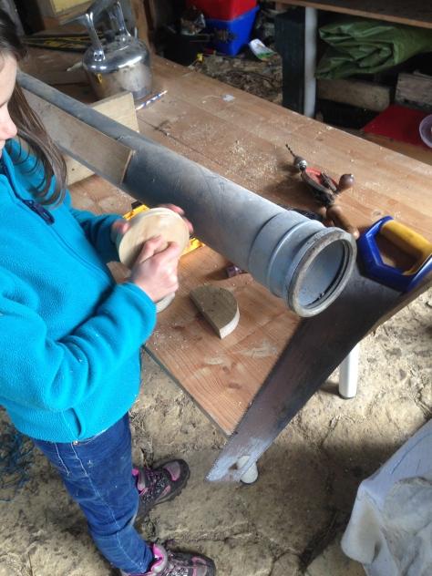 Tilly helping make a steamer