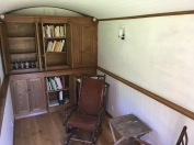 Shepherd's Hut stocked with books